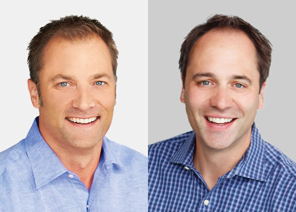 Learn more about who we are - Headshots of Dr. Brandon and Dr. Aaron