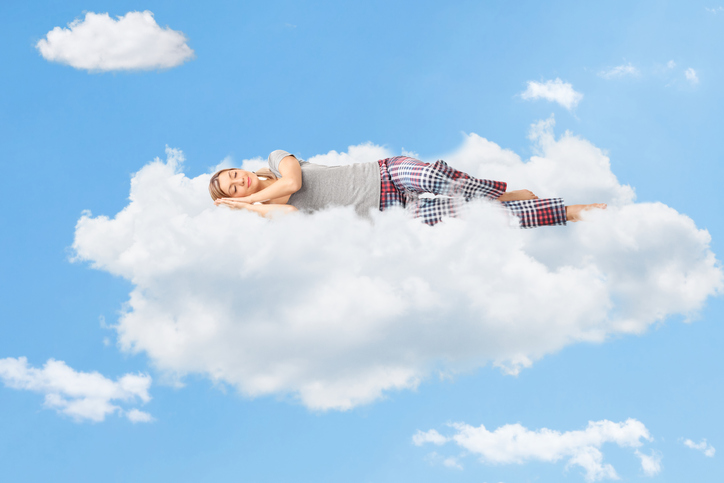 Woman feels like sleeping on clouds during dental procedure at Cooley Smiles